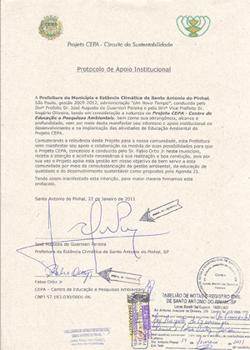 Protocolo de apoio da Prefeitura de SAP