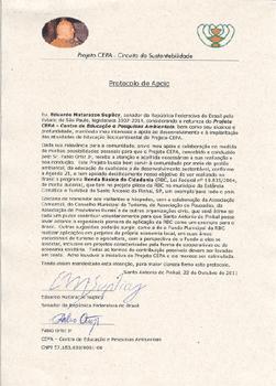 Protocolo de apoio de Eduardo M Suplicy