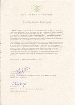 Protocolo de apoio da APOSAP