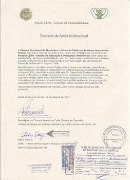 Protocolo de apoio da Câmara Municipal de SAP